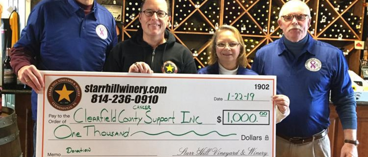 CLEARFIELD COUNTY CANCER SUPPORT RECEIVES DONATION